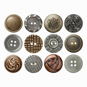 Gold Metal Blazer Button Set For Suits