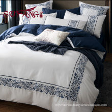 Luxury cotton hotels bedding 30S/40S/60S embroidered long stapled cotton