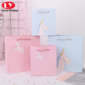 Licorne sacs à main en papier de série Cartoon peints à la main