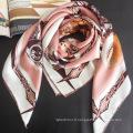 90 carré soie musulmane pure soie femmes hijab écharpe