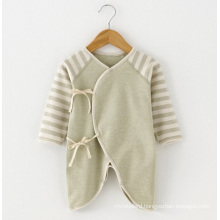 Nature Organic Cotton Baby Striped Romper