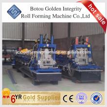 China Perfil estructural de acero de alta calidad perfil CZ sección rodillo frío de Purlin formando la máquina