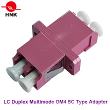 LC Duplex Sc Type Multimode Om4 Fiber Optic Adapter