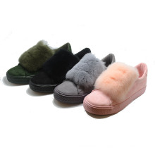 Animal Wool Fastion Comfoutable Injection Vulcanization Mujer Zapatos