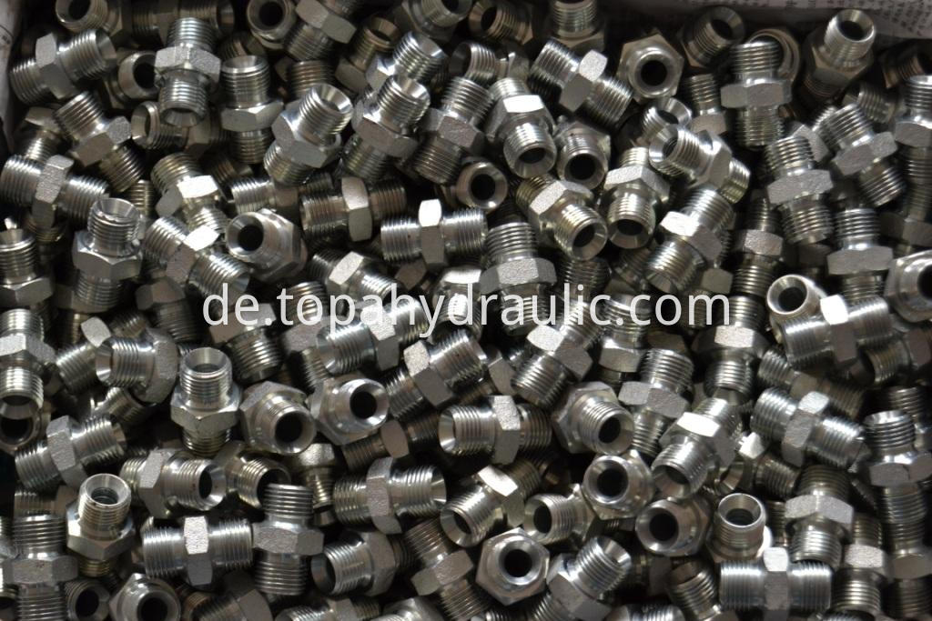1B Carbon steel BSP thread Hydraulic Fittings 1