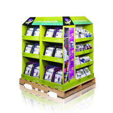 Point of Sale Corrugated Display Racks, Karton Paletten Display Stand