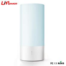 Lâmpada de cabeceira de luz colorida noite de luz de modo morno com controle de toque inteligente