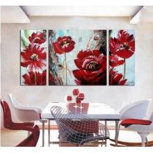 Nouvelle peinture à l'huile de fleurs moderne