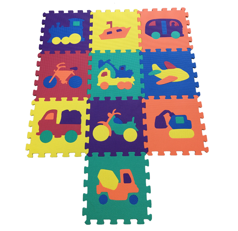 Vehicles Puzzle Mat