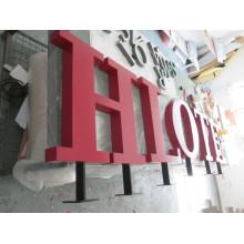 Letras de canal de aço inoxidável exteriores personalizadas quentes do metal 3D