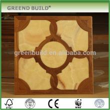 Madera con precios de pisos de madera de parquet de piedra de arte