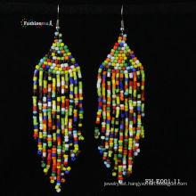glass seed beads earrings