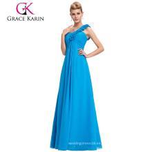 Grace Karin Stock un vestido del banquete de boda del hombro más el vestido de noche del baile de fin de curso del tamaño CL3402-4 #