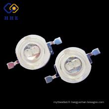 émetteur mené mené bleu de puissance élevée de la promotion 5W 460nm de luminosité pour l'éclairage de croissance