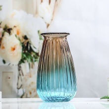 Fashion Style Luxury Home Decor Colored Hand Blown Large Flower Glass Vase