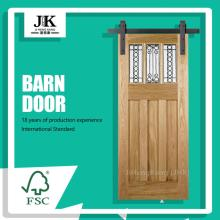 JHK-G18 Farmhouse Sliding Door Industrial Sliding Door Popular Flush Sliding Door System
