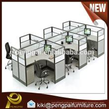 Popular new design six person staff desk for sale
