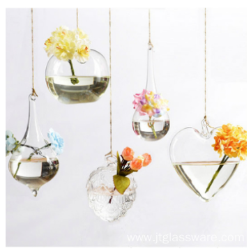 Shape Borosilicate Hanging Glass Vase
