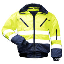 Reflective jacket outside abrasion-resistant cotton polyester blended fabric, 4-in-1 function