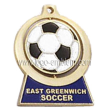 Zinc Alloy Custom Spinner Medal - Fútbol / Fútbol / Evento Deportivo