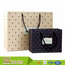 Alibaba Supplier Custom Design Logo Printed Matt Black Color Gift Jewelry Paper Bag Packaging