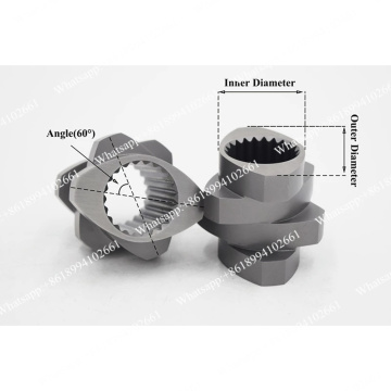 Parafuso e barril para máquinas de parafuso duplo paralelo