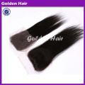 Golden Hair Brazilian Virgin Straight Clip In Top Closure