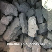 83-90% kohlenstoffreicher Gießereikoks mit niedrigem Schwefelgehalt und flüchtiger Materie für Aluminiumgießereien