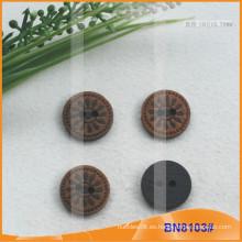 Botones de madera naturales para la prenda BN8103