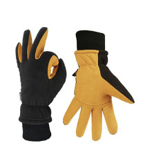 Leather Palm Patch Warm Equipment Training Gloves