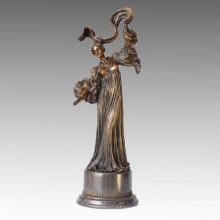 Danseuse Statue Jupe Dance Lady Bronze Sculpture TPE-154