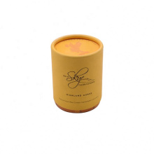 Biodegradable Eco Material Kraft Paper Cylindrical packing tube, Candle Packaging Round Box With lid
