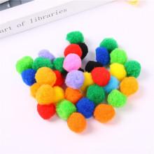 Factory wholesale Multi color 1cm-3cm craft pompom for Educational toys