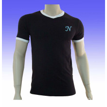 Men's Slim Fit T-Shirt with Custom Logo and Design, Spandex/Cotton