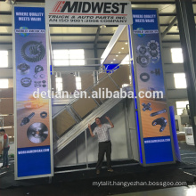 Saria offer two storey exhibition stands, design stand exhibition system with cheapest price