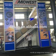 Saria oferecem dois andares stands de exposição, design stand sistema de exposição com preço mais barato
