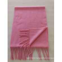 blend 50% cashmere 50% wool medium plain red scarf