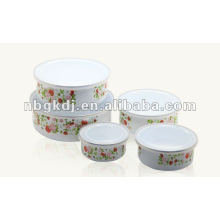 enamel bowl with PP lid