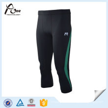 Gym Wear Mesh Knee Pant Pantalones de compresión