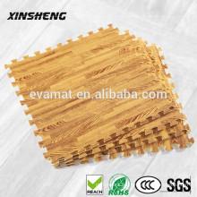 EVA entrelazadas esteras de espuma de grano de madera suave