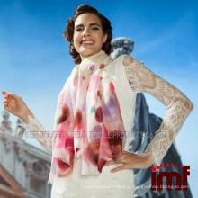 Estilos de lenço pintados à mão Pure Mongolian 100% Cashmere Scarf