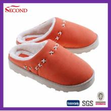 Zapatillas de gamuza color naranja para interiores y exteriores