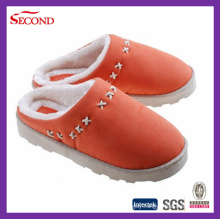 Orange Color Suede Slippers for Indoor and Outdoor