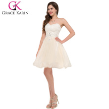 Grace Karin Organza Ball Strapless Sweetheart Cheap Short Cocktail Dresses CL6134