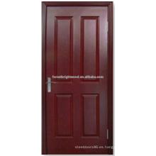 Núcleo sólido 4 Panel clásico teñido puerta moldeada