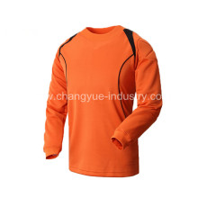 summer new design soccer jersey with long sleeves for goal keeper