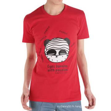 Yeux drôles brûlant imprimé en gros personnalisé coton mode hommes t-shirt d'été