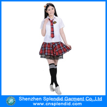 Shenzhen Clothing Wholesale Stylish Sexy Japanese School Girl Uniform