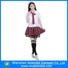 Shenzhen Vestuário Atacado Elegante Sexy Japanese School Girl Uniforme
