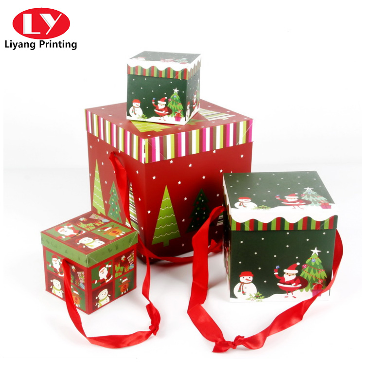 Christmas Box With Handle